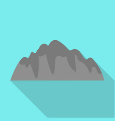 rock mountains icon flat style vector image