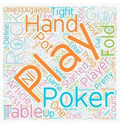 Rocks at the Poker Table text background wordcloud vector