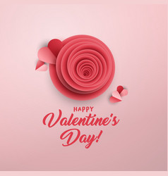 rose bud greeting card template vector image