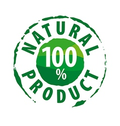 Round logo for 100 natural products vector image