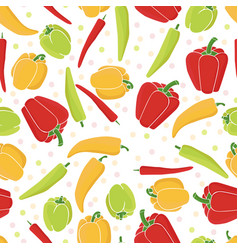 Seamless pattern background peppers paprika vector