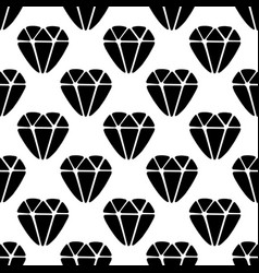 Seamless pattern made from doodle diamond vector