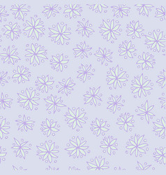 seamless pattern with blue flowers on blue vector image