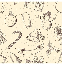Seamless retro Christmas pattern vector