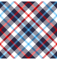 seamless tartan plaid pattern in blue red and vector image