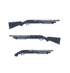 Shotguns isolated on white vector