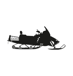 Silhouette of a snowmobile on a white background vector image