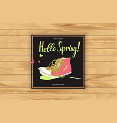 spring trendy sports shoes vector image