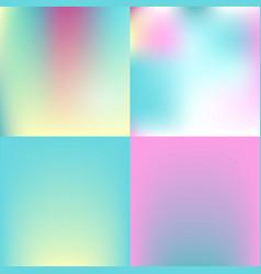 sweet color blurred background set pastel color vector image