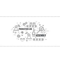 Thin line art design vector
