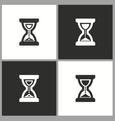 time clock sand glass icon vector image