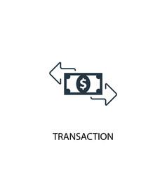 Transaction icon simple element vector