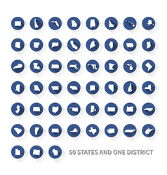 united states america 50 states and 1 federal vector image