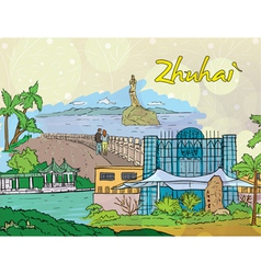 Zhuhai doodles vector