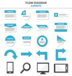 Flow diagram Infographic elements flat design set vector image