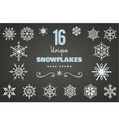 Hand Drawn Snowflakes vector image vector image