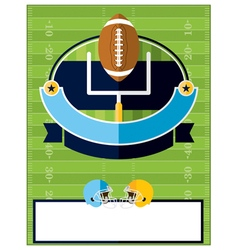 American Football Flyer Template vector image vector image