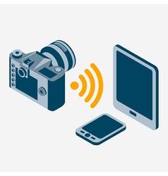 camera wi-fi vector image vector image