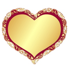 Gold gradient valentine isolated frame vector image