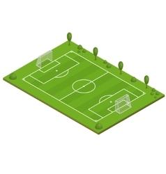 Green Grass Football Field vector image vector image