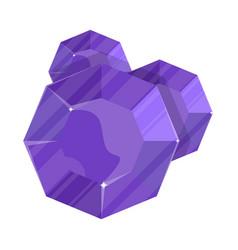 purple jewelry round amethyst icon vector image