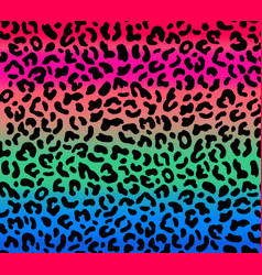 Seamless gradient leopard pattern vector