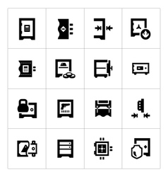 Set icons of safe vector image vector image