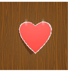 torn paper heart vector image vector image