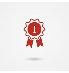 Badge With Ribbons vector image vector image