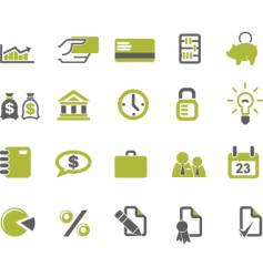 banks and business icons set vector image