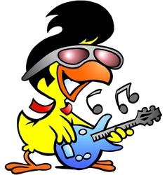 chicken guitar vector image