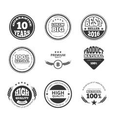 High quality premium guarantee vintage vector image