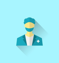 icon of medical doctor with shadow in modern flat vector image vector image