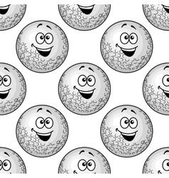 Seamless background pattern of cartoon golf balls vector image vector image