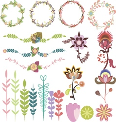 Set of different design elements vector image vector image