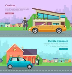 transport cool cabriolet family transportation vector image
