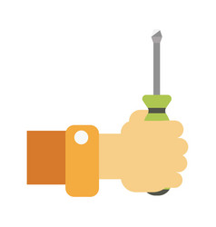hand with screwdriver vector image vector image