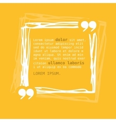 Square frame with quote on yellow background vector image vector image