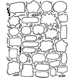 0085 hand drawn background set cute speech vector
