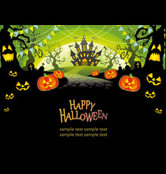A happy halloween landscape vector
