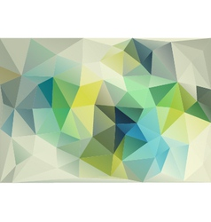 Abstract blue green low poly background vector