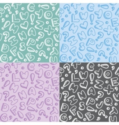 alphabet patterns vector image