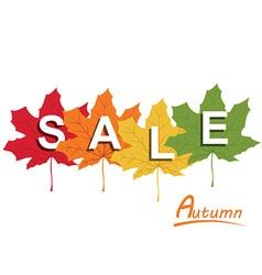 Autumn retail background vector