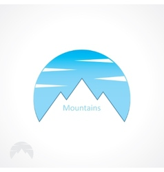 badge mountains vector image