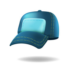 Blue baseball hat isolated white vector