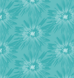 Blue batik pattern vector
