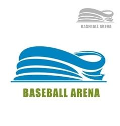 Blue round baseball stadium icon vector