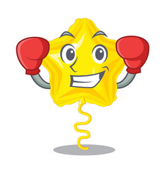 Boxing star balloon was flown mascot sky vector