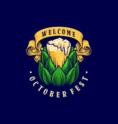 brewery beer glass banner template vector image