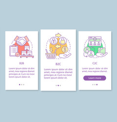 Business marketing onboarding mobile app page vector